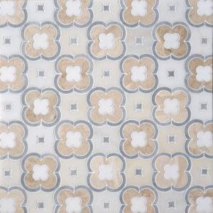 Afyon Grey, Afyon White, Diana Royal, Do Multi Finish Damascus Marble Waterjet Decos 27,94x27,94