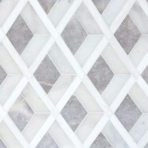 Afyon Grey, Afyon White, Dolomite Multi Finish Hippodrome Marble Waterjet Decos 27,14x28,73