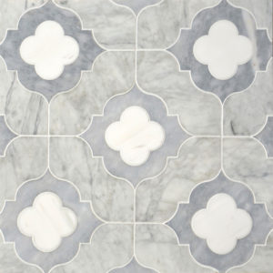 Afyon Grey, Avenza Light, Dolomite Multi Finish Irene Marble Waterjet Decos 28,94x28,94