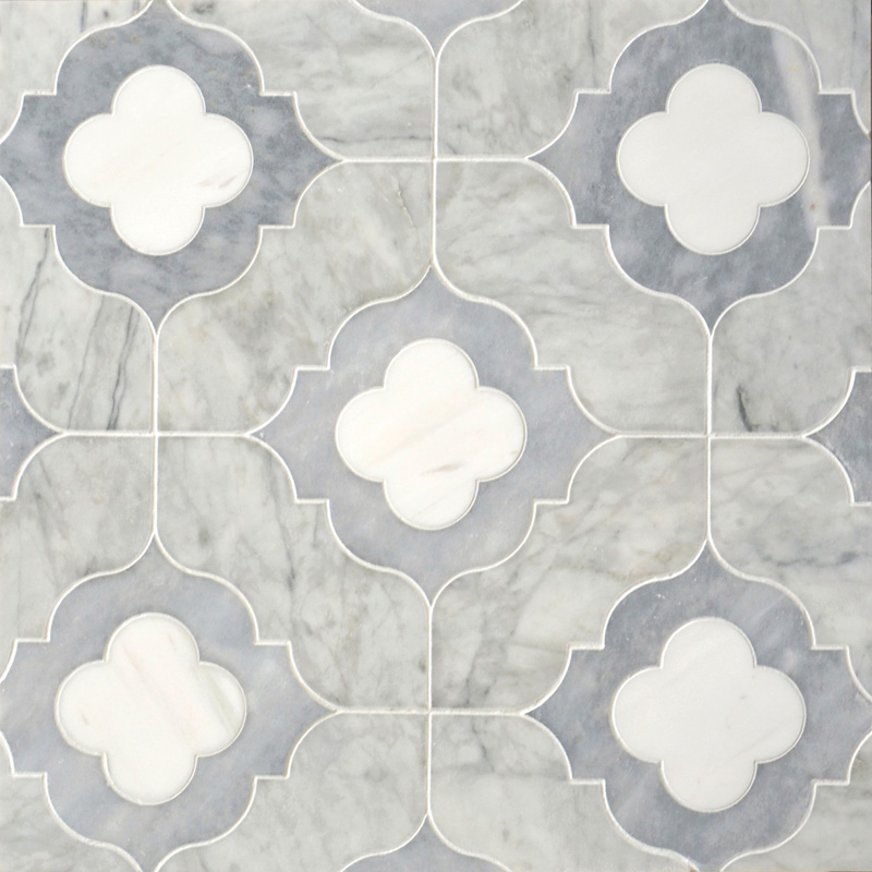 Afyon Grey, Avenza Light, Dolomite Multi Finish 28,94x28,94 Irene Marble Waterjet Decos