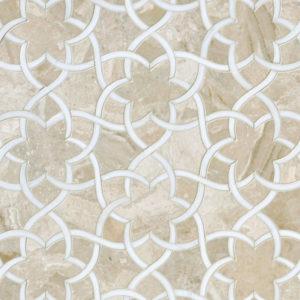 Diana Royal, Dolomite Honed Isidore Marble Waterjet Decos 31,68x36,56