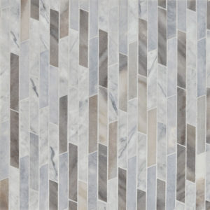 Afyon Grey, Palisandra Multi Finish Rhodes Marble Waterjet Decos 22,38x36,35