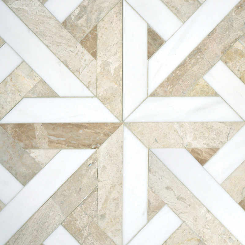 Diana Royal, Dolomite Multi Finish 43,18x43,18 Rubicon Marble Waterjet Decos
