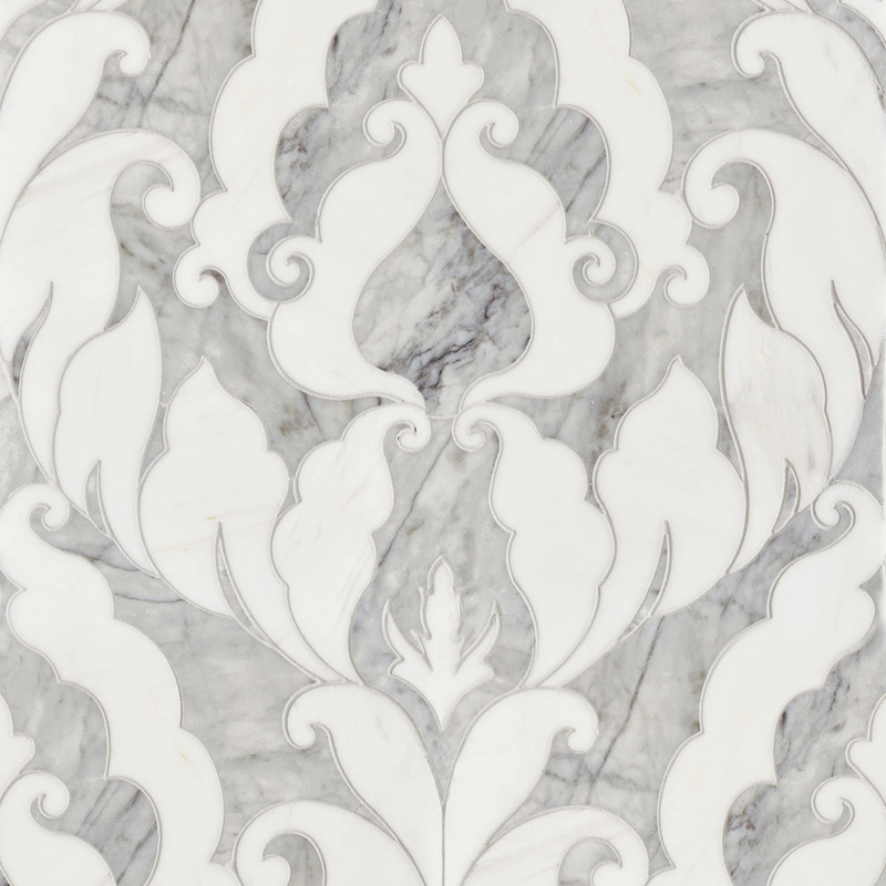 Avenza Dark, Dolomite Multi Finish 34,44x45,7 Rumi Marble Waterjet Decos