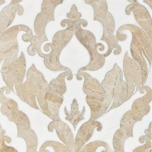 Diana Royal, Dolomite Multi Finish Rumi Marble Waterjet Decos 34,44x45,7