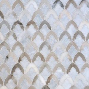 Afyon Grey, Palisandra Multi Finish Sophia Marble Waterjet Decos 22,32x34,22