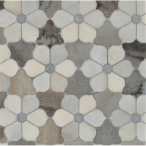 Afyon Grey, Palisandra, Skyline Multi Finish Theodora Marble Waterjet Decos 30,81x35,56