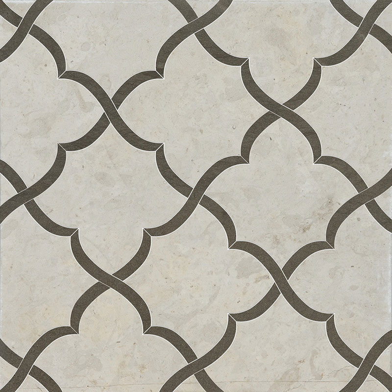 Britannia, Bosphorus Honed 30x30 Gaia Limestone Waterjet Decos