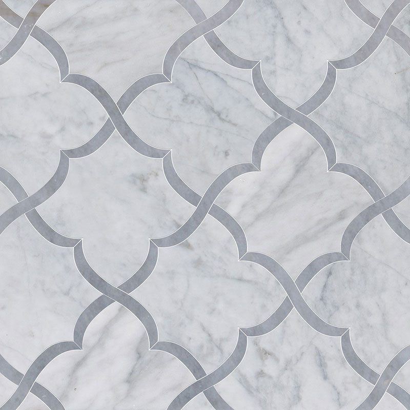 Avenza, Allure Light Multi Finish 30x30 Gaia Marble Waterjet Decos