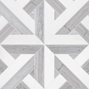 Haisa Light, Thassos White Multi Finish Rubicon Marble Waterjet Decos