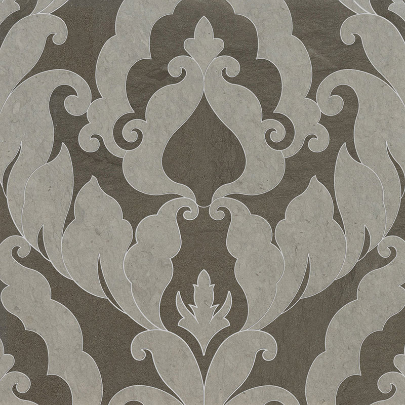 Britannia, Bosphorus Honed 34,44x45,7 Rumi Limestone Waterjet Decos