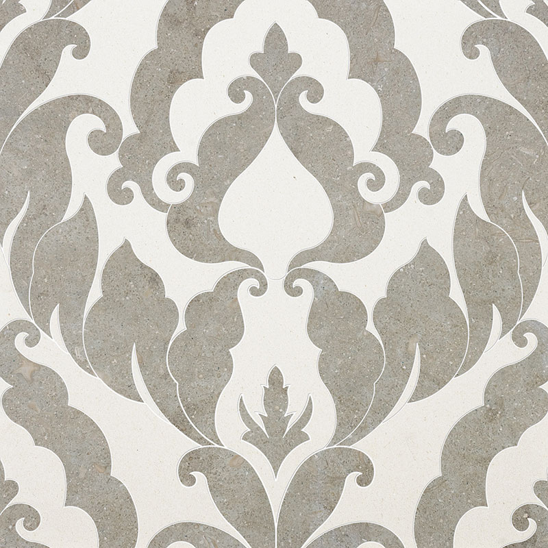 Champagne, Olive Green Multi Finish 34,44x45,7 Rumi Limestone Waterjet Decos
