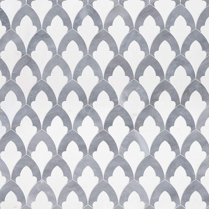 Aspen White, Allure Light Multi Finish 22,32x34,22 Sophia Marble Waterjet Decos