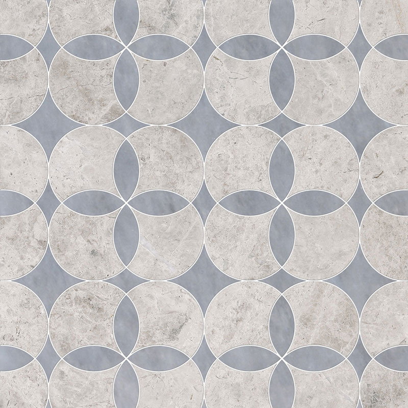 Silver Shadow, Allure Light Multi Finish Constantine Marble Waterjet Decos 34,52×34,52