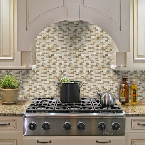 MILANO BLEND POLISHED 5/8X1 1/4 MARBLE MOSAICS (MS00798)