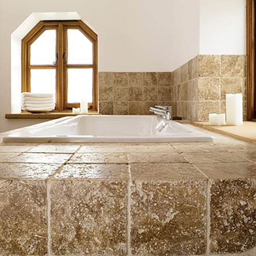 WALNUT DARK TUMBLED TRAVERTINE TILES (TL10180)
