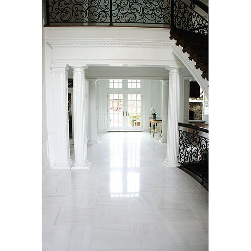 SNOW WHITE POLISHED MARBLE TILES (TL10242)