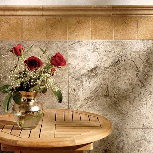 WALNUT DARK HONED&FILLED TRAVERTINE TILES (TL10875) SILVERADO HONED&FILLED TRAVERTINE TILES (TL13098) WALNUT DARK HONED ANDORRA TRAVERTINE MOLDINGS (ML00053)