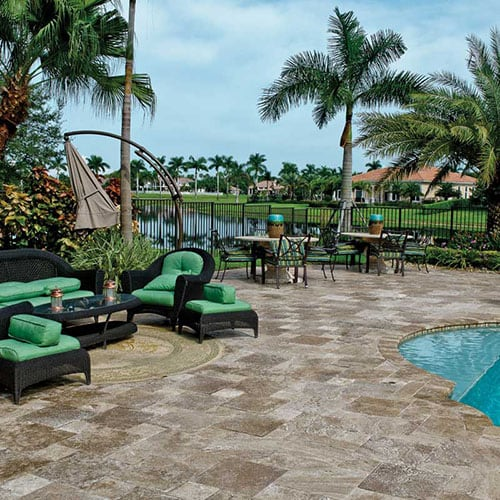 WALNUT DARK TUMBLED TRAVERTINE PATTERNS (TL13072) WALNUT DARK TUMBLED POOL COPING TRAVERTINE POOL COPINGS (SP00339)