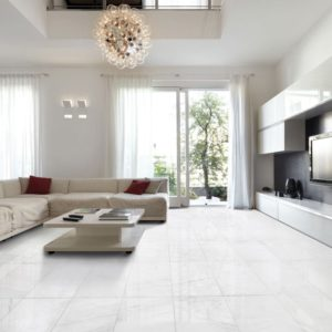 SNOW WHITE POLISHED MARBLE TILES (TL14358)