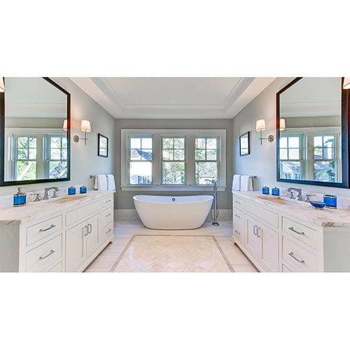 SNOW WHITE HONED MARBLE TILES (TL17188) SNOW WHITE POLISHED MARBLE TILES (TL16373)