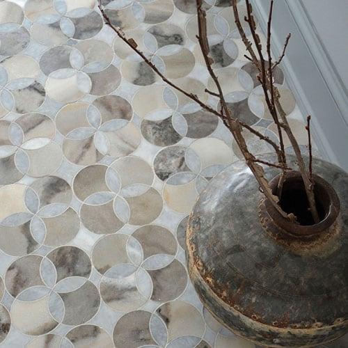 AFYON GREY, PALISANDRA MULTI FINISH CONSTANTINE MARBLE WATERJET DECOS (YNR10019)