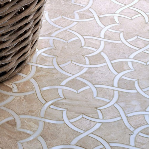 DIANA ROYAL, DOLOMITE MULTI FINISH ISIDORE MARBLE WATERJET DECOS (YNR10027)
