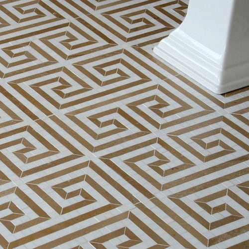 DOLOMITE, SABLE MULTI FINISH JUSTINIAN MARBLE WATERJET DECOS (YNR10030)