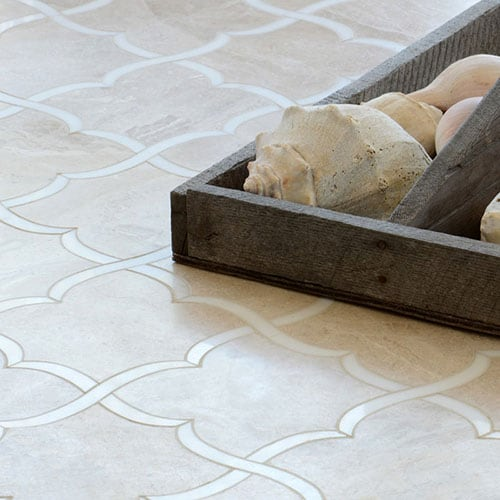 DIANA ROYAL, DOLOMITE HONED GAIA MARBLE WATERJET DECOS (YNR10047)