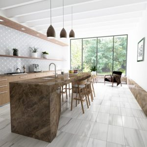 FROST WHITE HONED MARBLE TILES (TL17685)