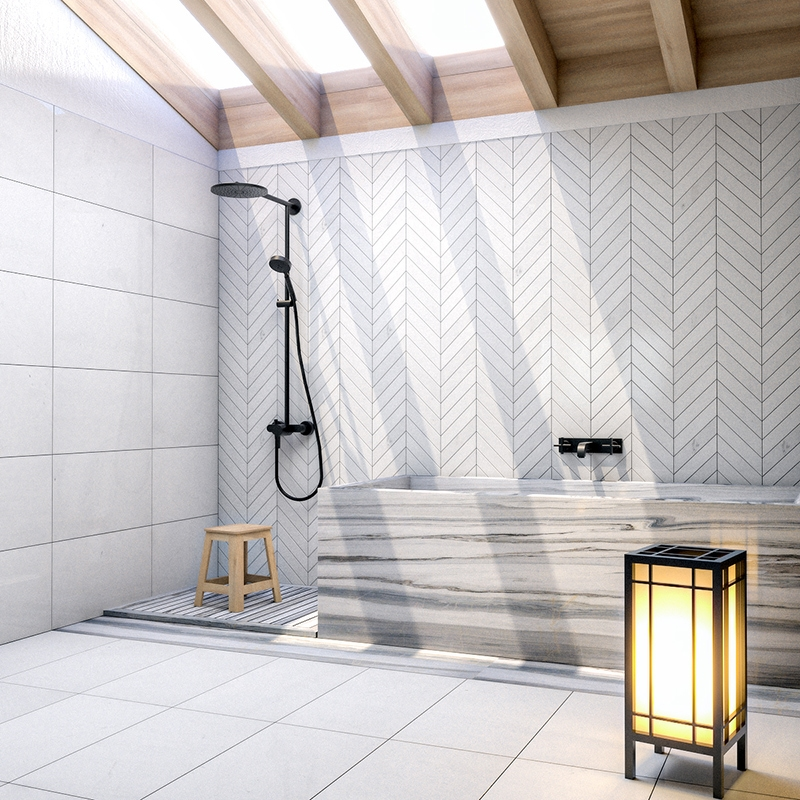 Aspen White Polished Marble Collection