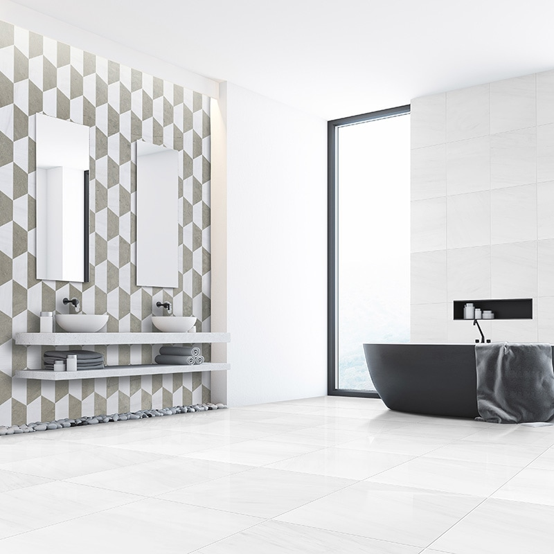 Snow White Polished Marble Collection