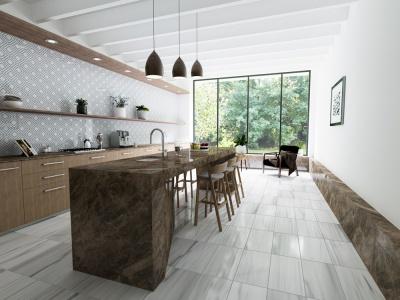 Mermer Mutfak tezgahı ve yer döşemesi